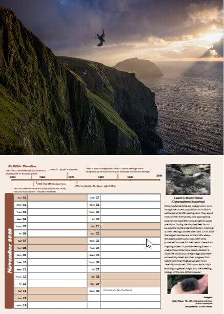 St Kilda Calendar inside pages