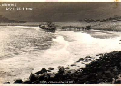 Beached landing craft tank