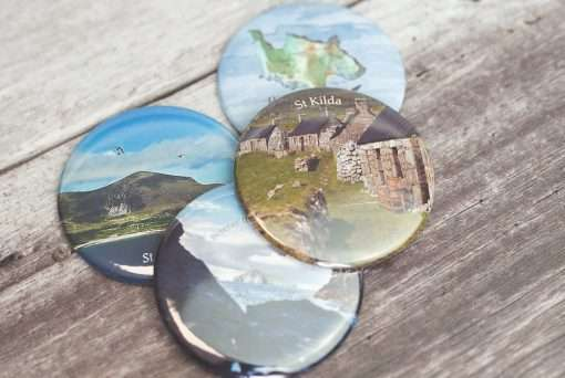 Four St Kilda magnets with different designs
