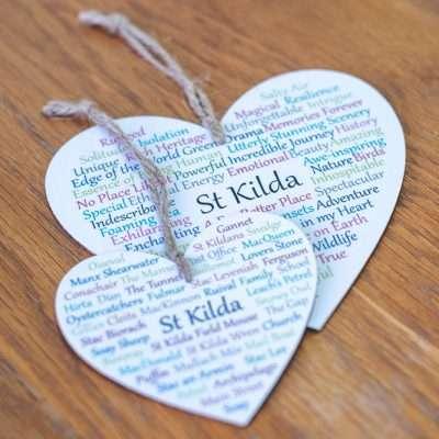 St Kilda Wooden Hearts